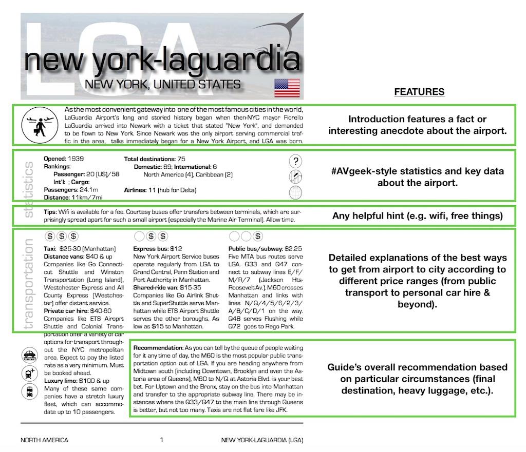 Airport guide detail for New York's LaGuardia Airport