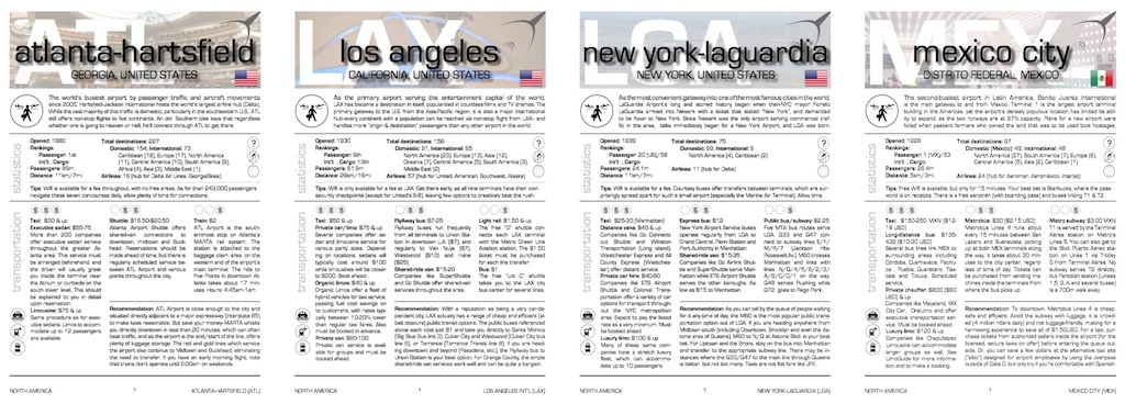 Airport guides for North America (more)