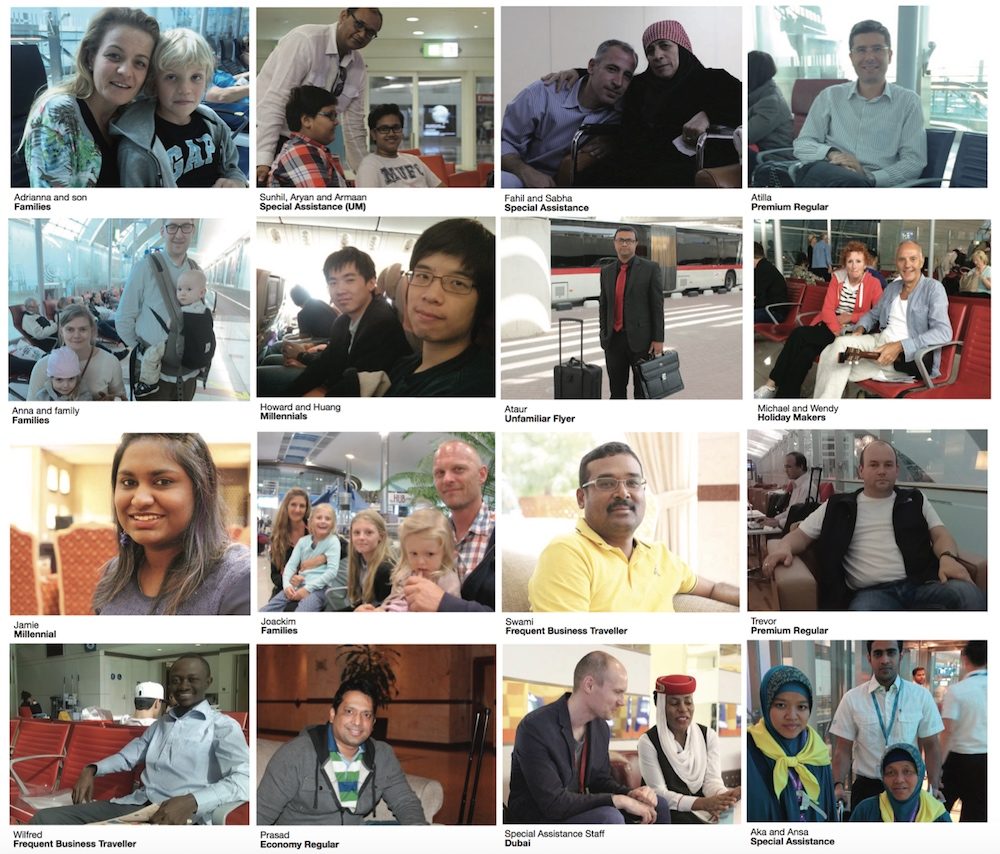 Images of various customer research subjects