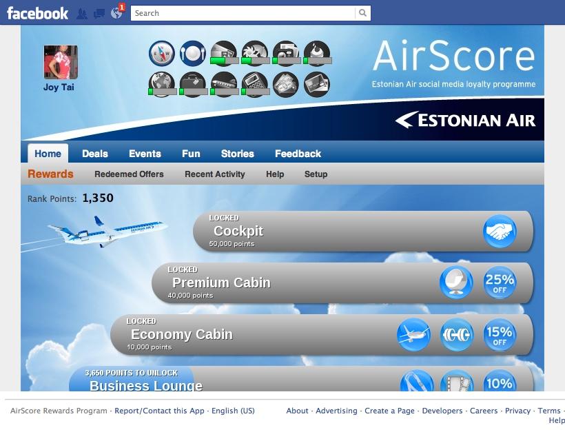 Screenshot of Estonian Airscore Facebook page