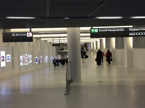 Image showing concourse C walk uphill both directions