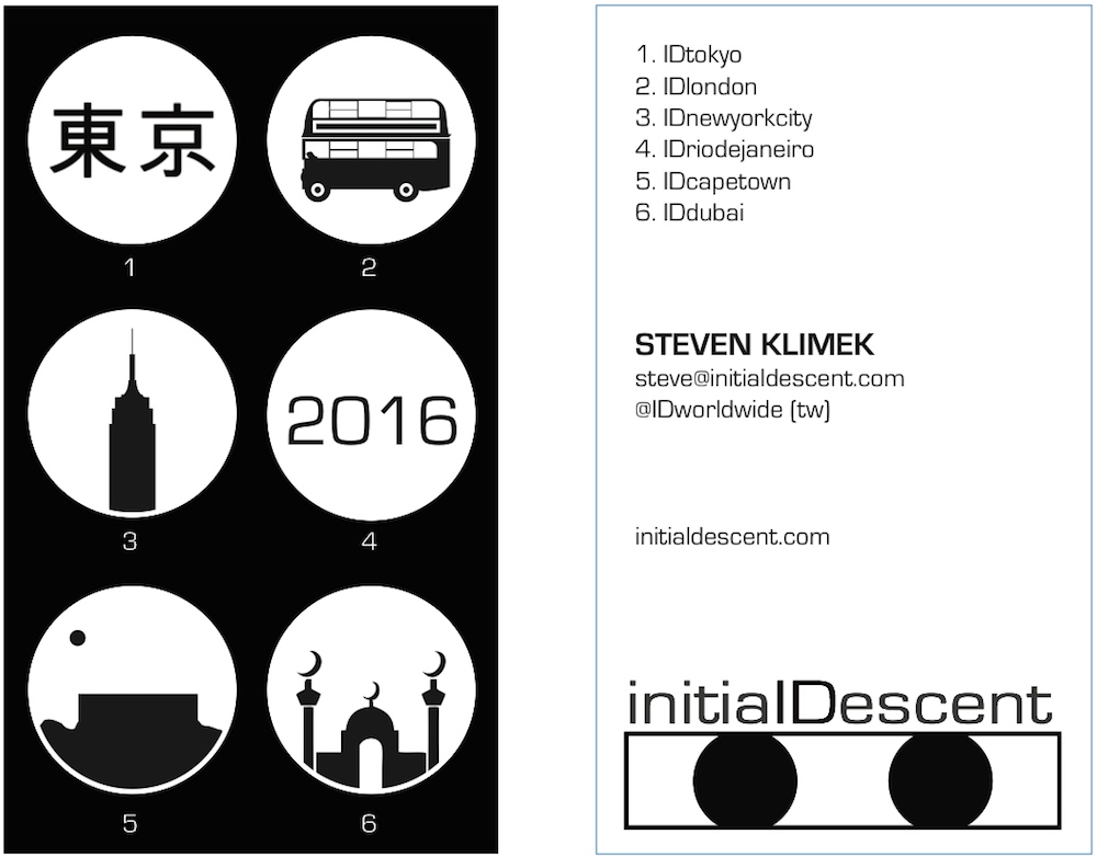 Initial Descent business card ver. 1
