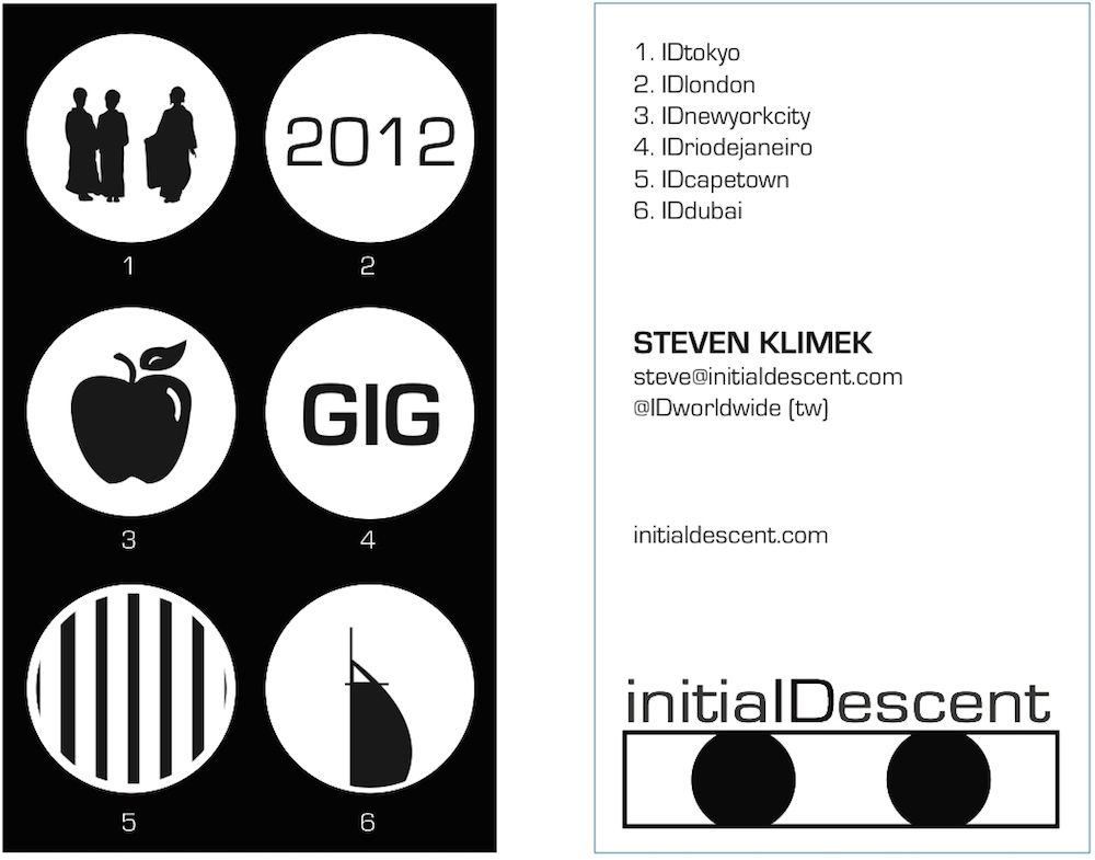 Initial Descent business card ver. 2