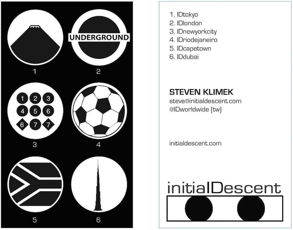 Initial Descent business card ver. 3