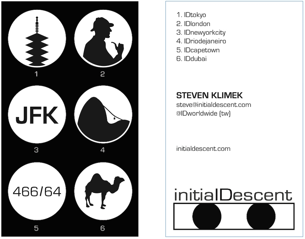 Initial Descent business card ver. 4