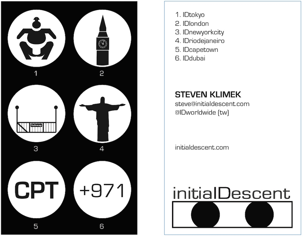 Initial Descent business card ver. 5