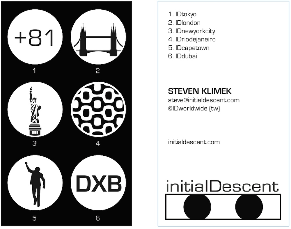 Initial Descent business card ver. 6