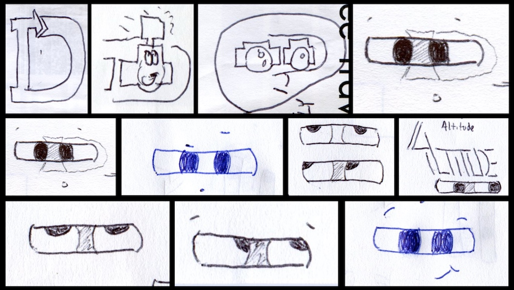ID Logo sketch ideas incorporating a camera theme