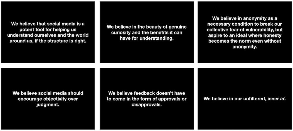 Sideview's six belief statements