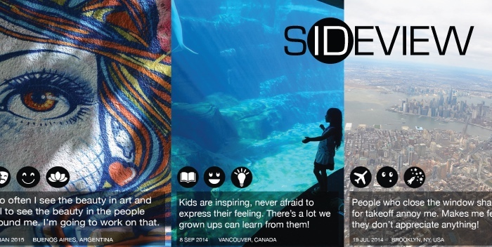 Sample posts on Sideview final app